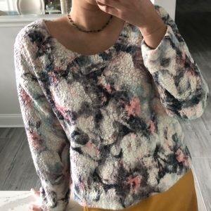 Anthropologie soft colorful sweater
